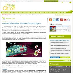 Panorama des sites d'info collaborative