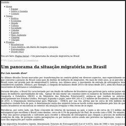 Um panorama da situação migratória no Brasil