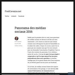 Panorama des médias sociaux 2016 – FredCavazza.net