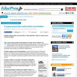 Un panorama des universités sur twitter