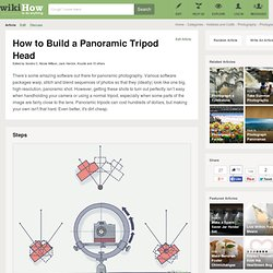 How to Build a Panoramic Tripod Head wikiHow