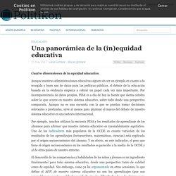 Una panorámica de la (in)equidad educativa » Politikon