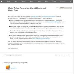 iBooks Author: Panoramica della pubblicazione di iBooksStore