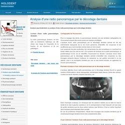 Analyse d'une radio panoramique par le décodage dentaire