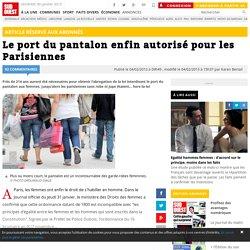 Le port du pantalon enfin autorisé pour les Parisiennes