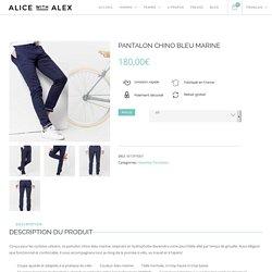 Pantalon chino bleu marine pour homme