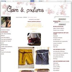 Patron pantalon pêcheur - Claire & Coutures