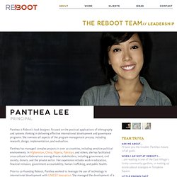 Panthea Lee | Reboot