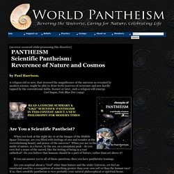 PANTHEISM: Nature, universe, science and religion