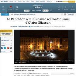 Le Panthéon à minuit avec Ice Watch Paris d'Olafur Eliasson