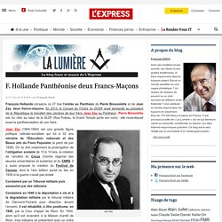 Hollande panthéonise deux francs-maçons : Zay et Brossolette
