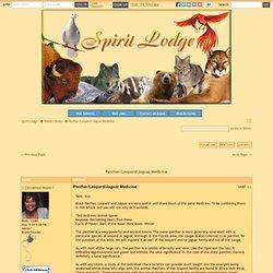 Panther/Leopard/Jaguar Medicine in Totem Library Forum
