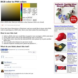 RGB Color to PMS Colors - HEX color code to Pantone colour online converter, matching tool