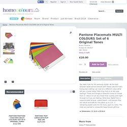 Pantone Placemats MULTI COLOURS set 6 medium