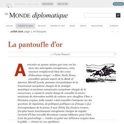 Uber et la pantoufle d'or, par Pierre Rimbert (Le Monde diplomatique, juillet 2016)