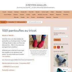 1001 pantoufles à tricoter