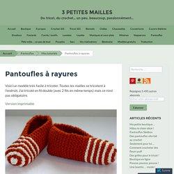 Pantoufles à rayures