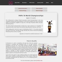 PAPA 18 World Championships