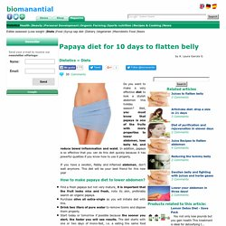 Papaya diet for 10 days to flatten belly