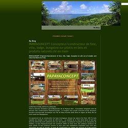 PAPAYACONCEPT Concepteur/constructeur de fare, villa, lodge, bungalow sur pilotis en bois et produits naturels clé en main