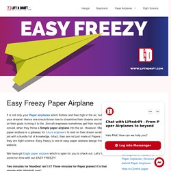 Learn how to make Easy Freezy paper plane design!