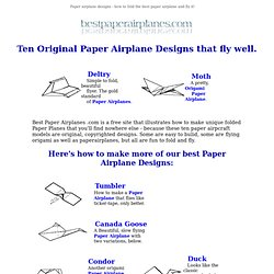 Paper Airplanes - the best origami paper planes to fold and fly
