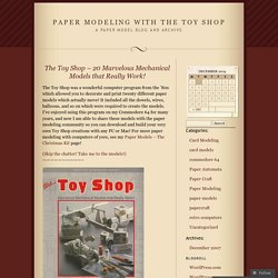 Paper Automata « Paper Modeling With The Toy Shop