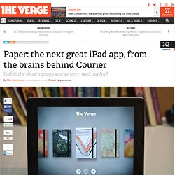 Paper: the next great iPad app, from the brains behind Courier