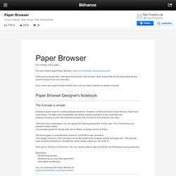 Paper Browser on the Behance Network