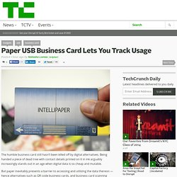Paper USB Business Card Lets You Track Usage