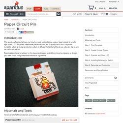 Paper Circuit Pin