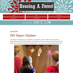 DIY Paper Climber