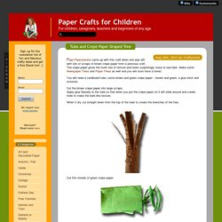 Paper Crafts for Children » Fall craft