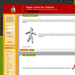 Paper Crafts for Children » Games and Toys