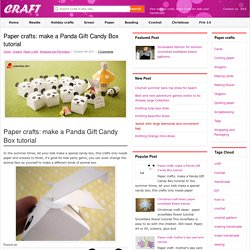paper crafts: make a panda gift candy box tutorial