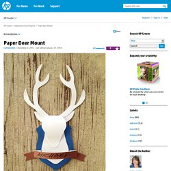 Paper Deer Mount - HP Communities
