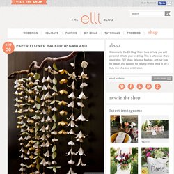 Paper Flower Garland Backdrop