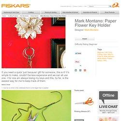 Paper Flower Key Holder / Home Decor
