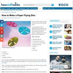 How to Make a Paper Flying Disc for Kids""