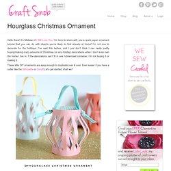 Hourglass Christmas Ornament