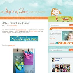 3D Paper Lizard {Craft Camp}