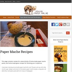 Paper Mache Recipes
