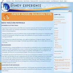 Paper Model Building Tips