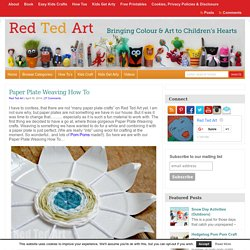 Paper Plate Weaving How To