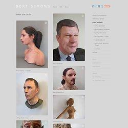 Bert Simons - Paper Portraits