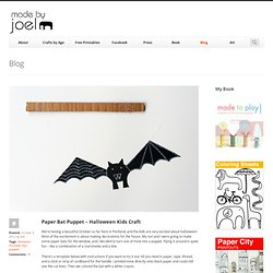 Paper Bat Puppet – Halloween Kids Craft