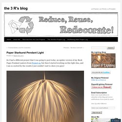Paper Starburst Pendant Light