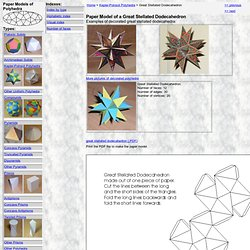 Paper Model of a Great Stellated Dodecahedron