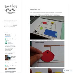 Paper Switches – Things made by Becca Rose