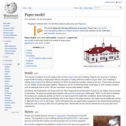 Paper model / Papercraft